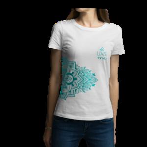 Camiseta para dama - Mandala verde