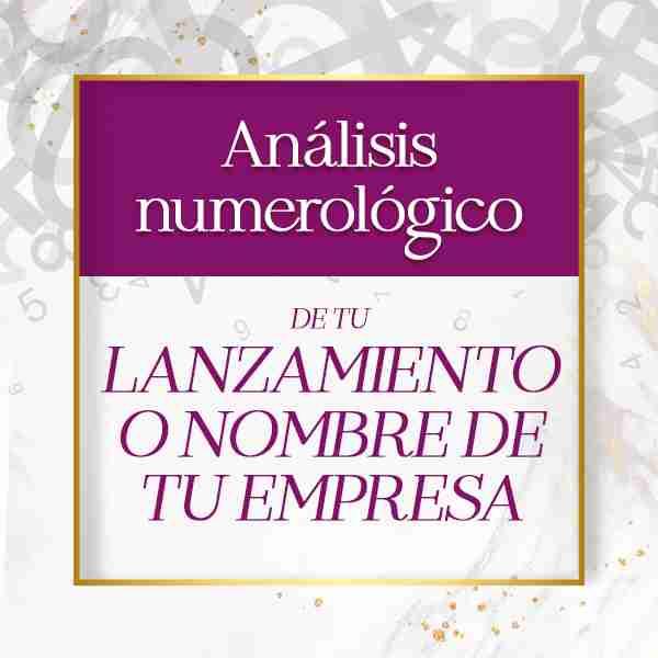 Análisis numerologico lanzamiento o empresa