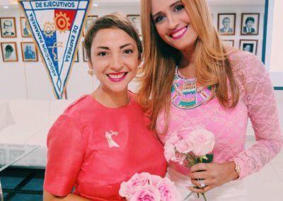 Con mi amiga Zoraya Reichlin @sebellayseñora APEDE Oct-16
