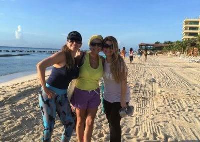 Con mis amigas Yazmin Rico y Lorena Susso Riviera Maya